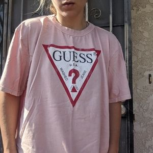 GUESS JEANS SALMON PINK TSHIRT